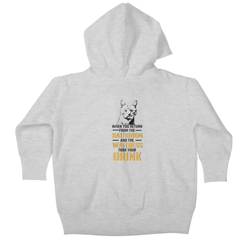 Wheres my Drink Kids Baby Zip-Up Hoody by Mini Moo Moo Clothing Company