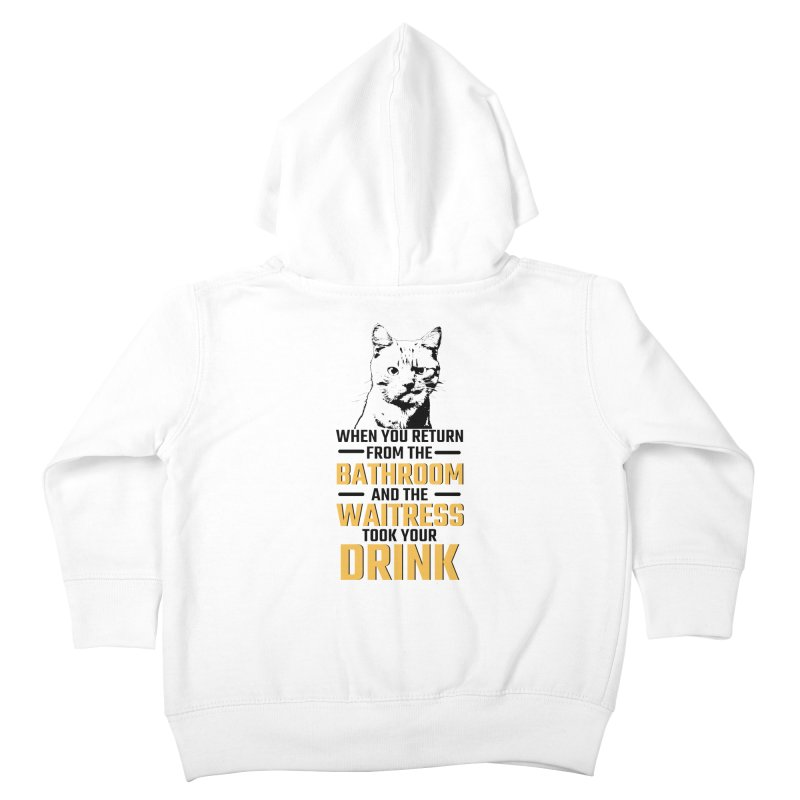 Wheres my Drink Kids Toddler Zip-Up Hoody by Mini Moo Moo Clothing Company