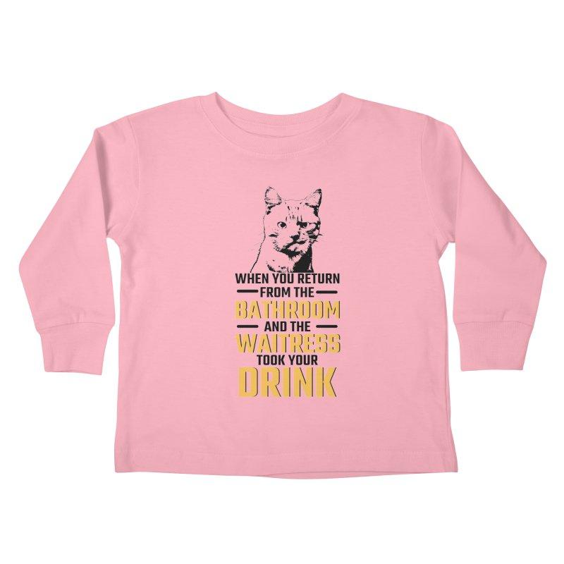 Wheres my Drink Kids Toddler Longsleeve T-Shirt by Mini Moo Moo Clothing Company