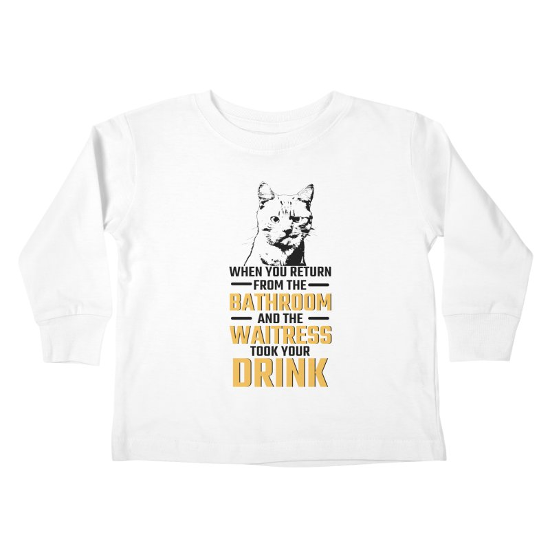 Wheres my Drink Kids Toddler Longsleeve T-Shirt by Mini Moo Moo Clothing Company