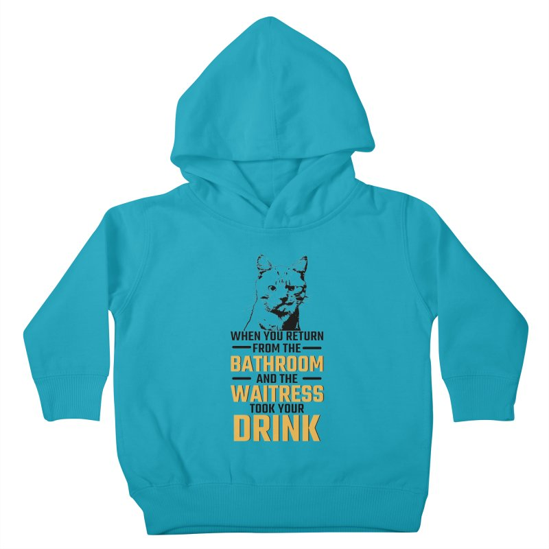 Wheres my Drink Kids Toddler Pullover Hoody by Mini Moo Moo Clothing Company