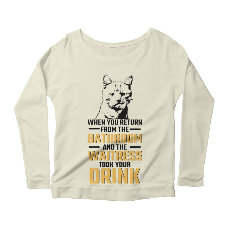 Wheres my Drink Women's Scoop Neck Longsleeve T-Shirt by Mini Moo Moo Clothing Company