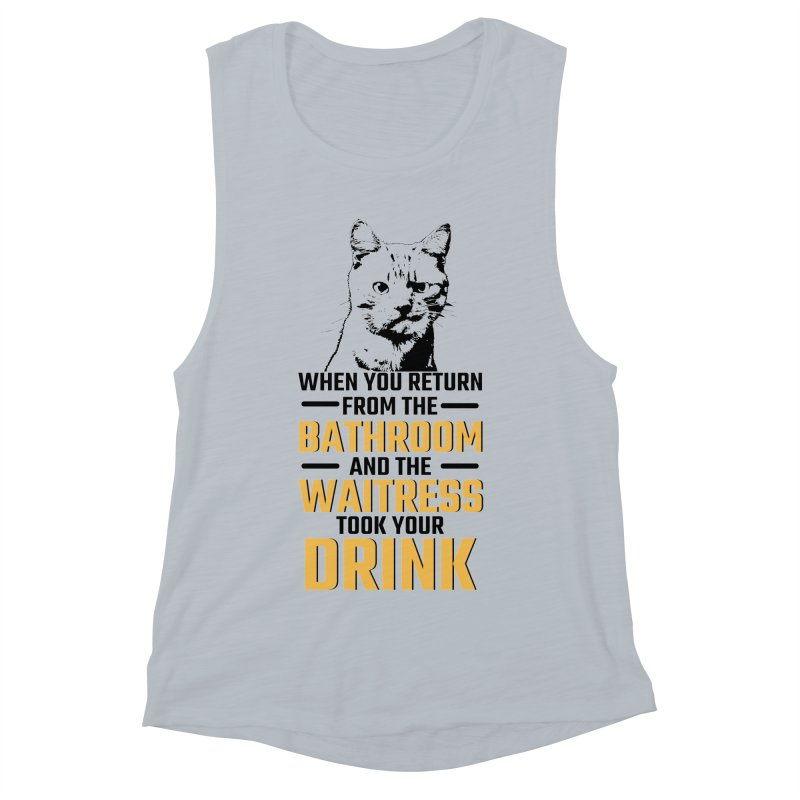 Wheres my Drink Women's Muscle Tank by Mini Moo Moo Clothing Company