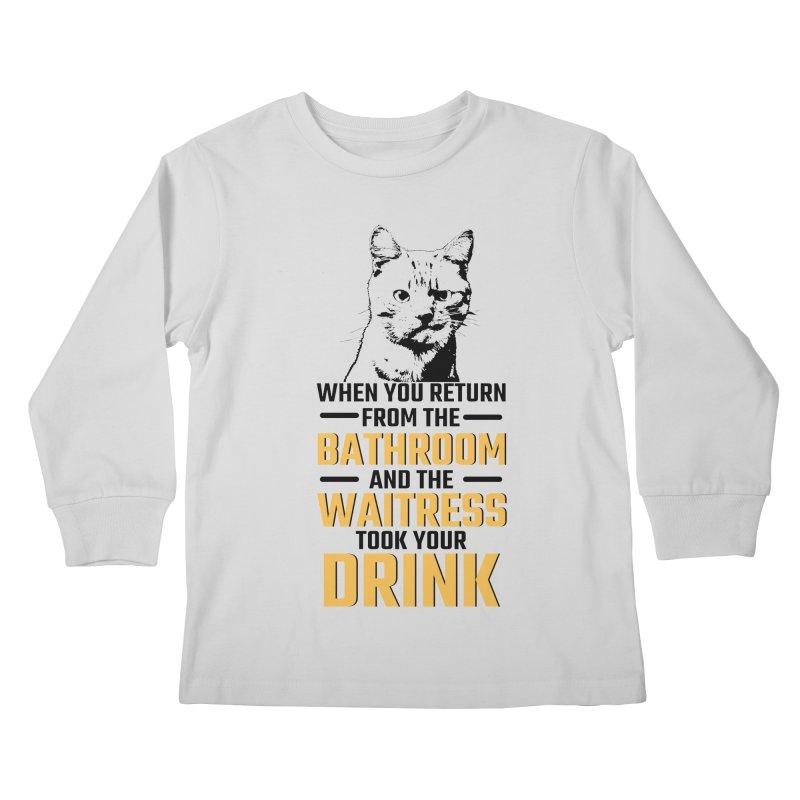 Wheres my Drink Kids Longsleeve T-Shirt by Mini Moo Moo Clothing Company