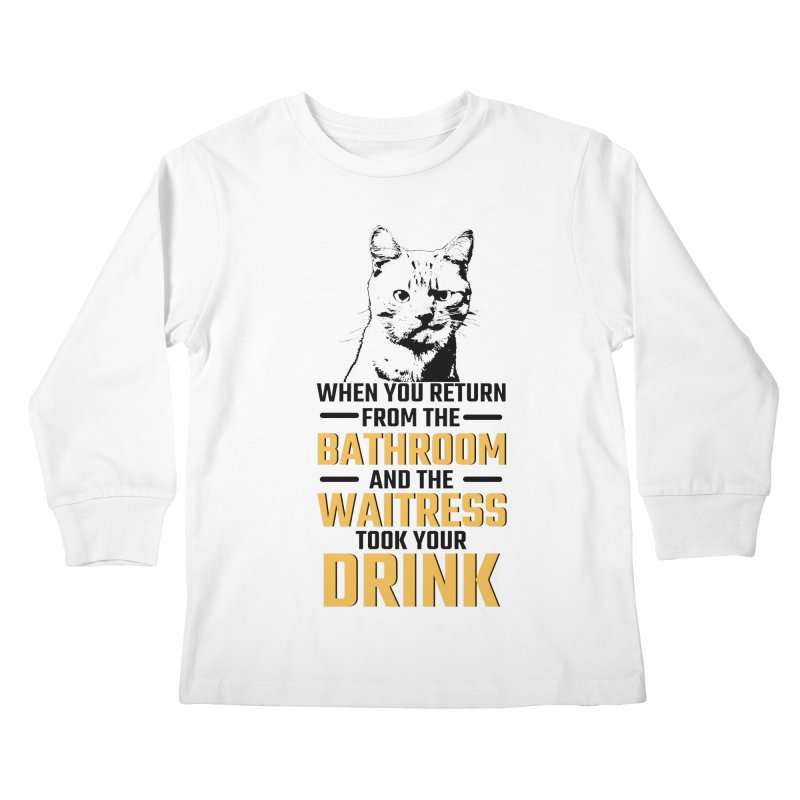 Wheres my Drink Kids Longsleeve T-Shirt by Mini Moo Moo Clothing Company