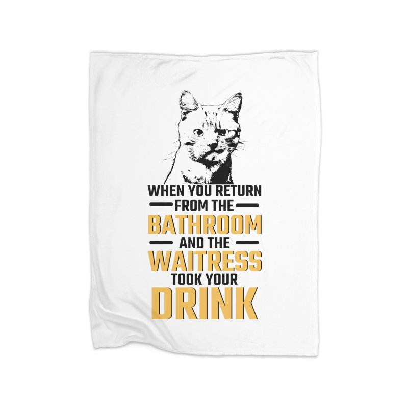 Wheres my Drink Home Blanket by Mini Moo Moo Clothing Company