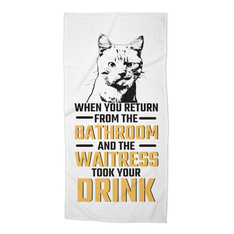 Wheres my Drink Accessories Beach Towel by Mini Moo Moo Clothing Company
