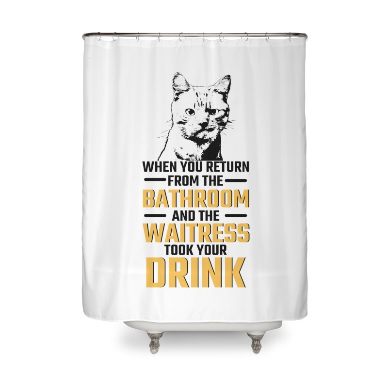 Wheres my Drink Home Shower Curtain by Mini Moo Moo Clothing Company