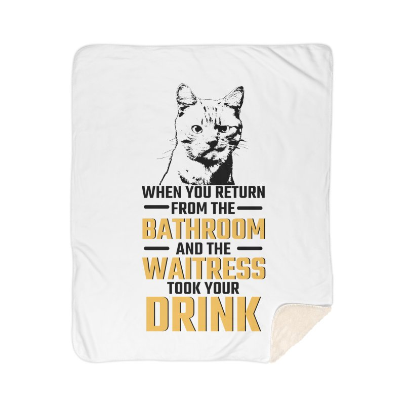Wheres my Drink Home Sherpa Blanket Blanket by Mini Moo Moo Clothing Company