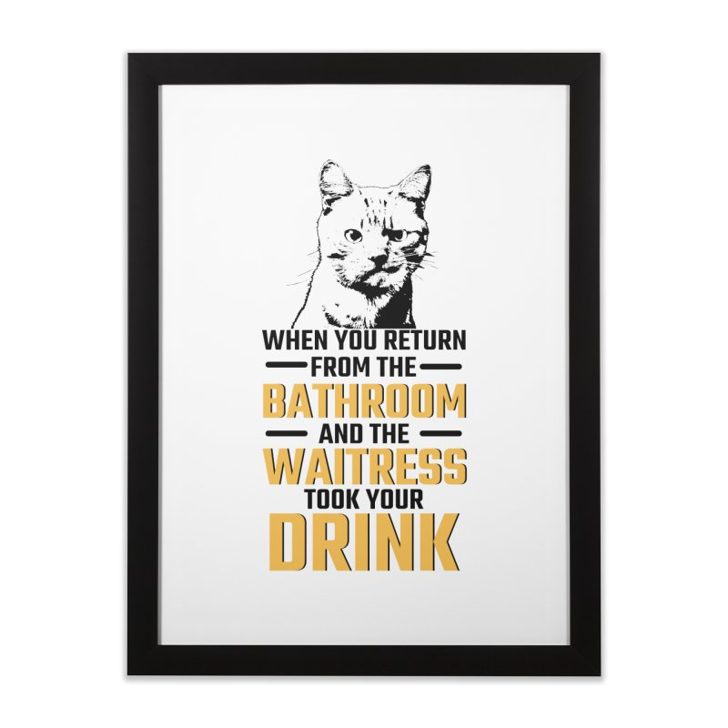 Wheres my Drink Home Framed Fine Art Print by Mini Moo Moo Clothing Company