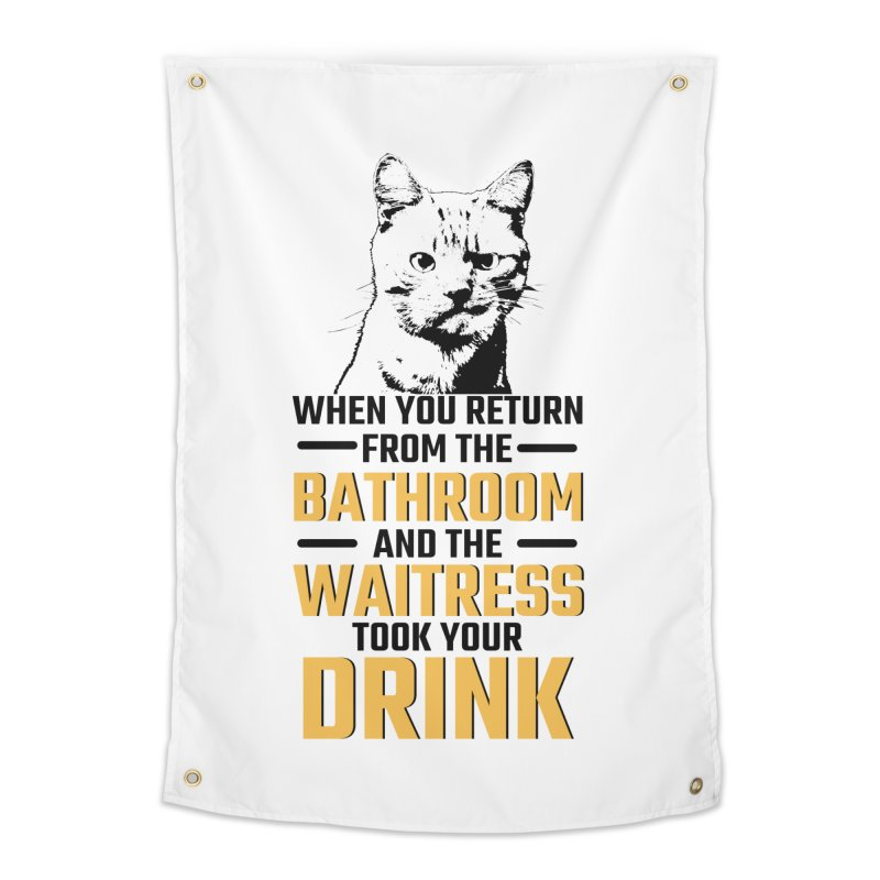 Wheres my Drink Home Tapestry by Mini Moo Moo Clothing Company