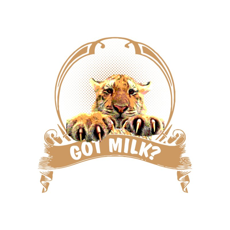Got Milk Men's V-Neck by Mini Moo Moo Clothing Company