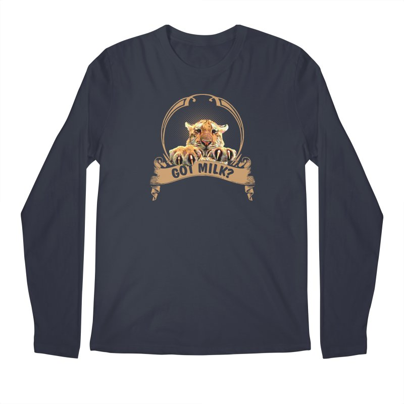 Got Milk Men's Longsleeve T-Shirt by Mini Moo Moo Clothing Company