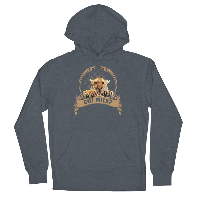 Got Milk Men's French Terry Pullover Hoody by Mini Moo Moo Clothing Company