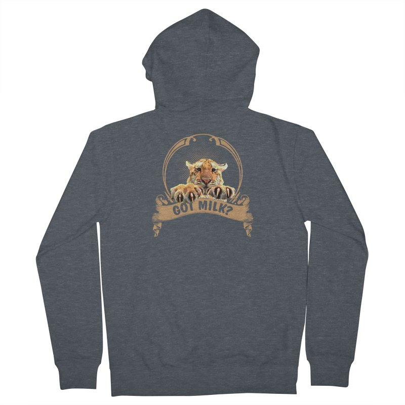 Got Milk Men's Zip-Up Hoody by Mini Moo Moo Clothing Company