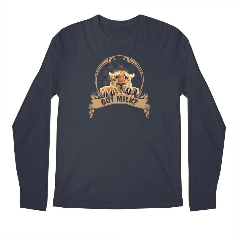 Got Milk Men's Regular Longsleeve T-Shirt by Mini Moo Moo Clothing Company