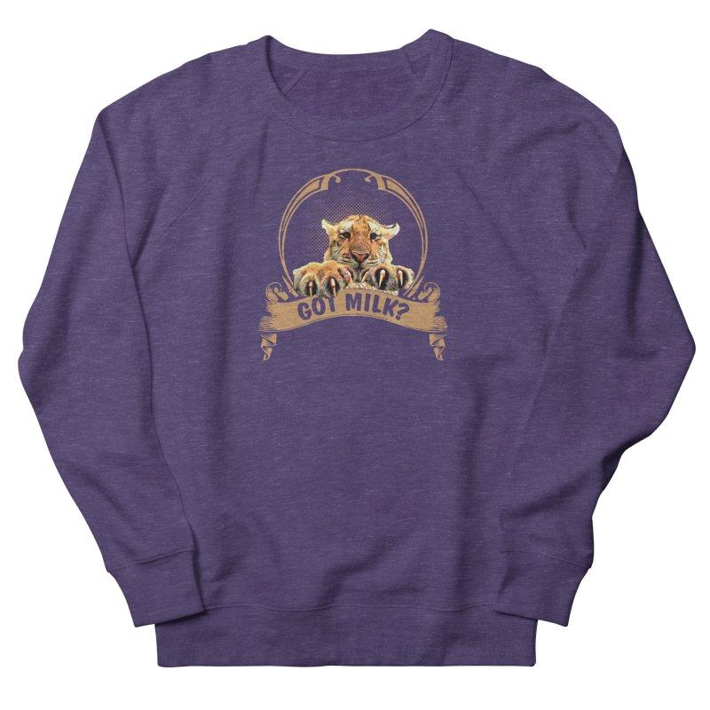 Got Milk Men's French Terry Sweatshirt by Mini Moo Moo Clothing Company