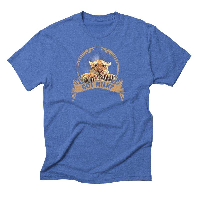 Got Milk Men's Triblend T-Shirt by Mini Moo Moo Clothing Company
