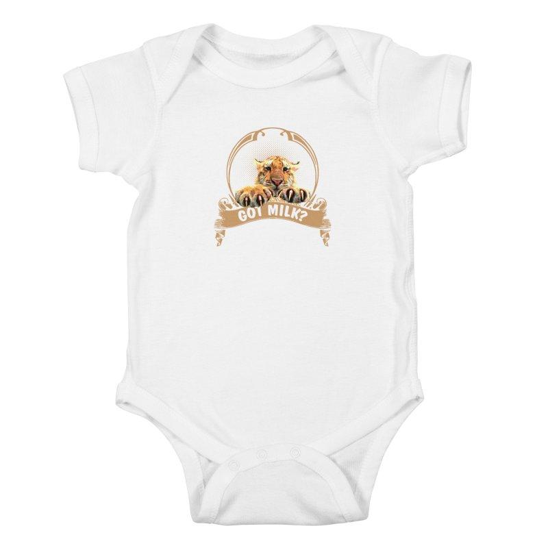 Got Milk Kids Baby Bodysuit by Mini Moo Moo Clothing Company