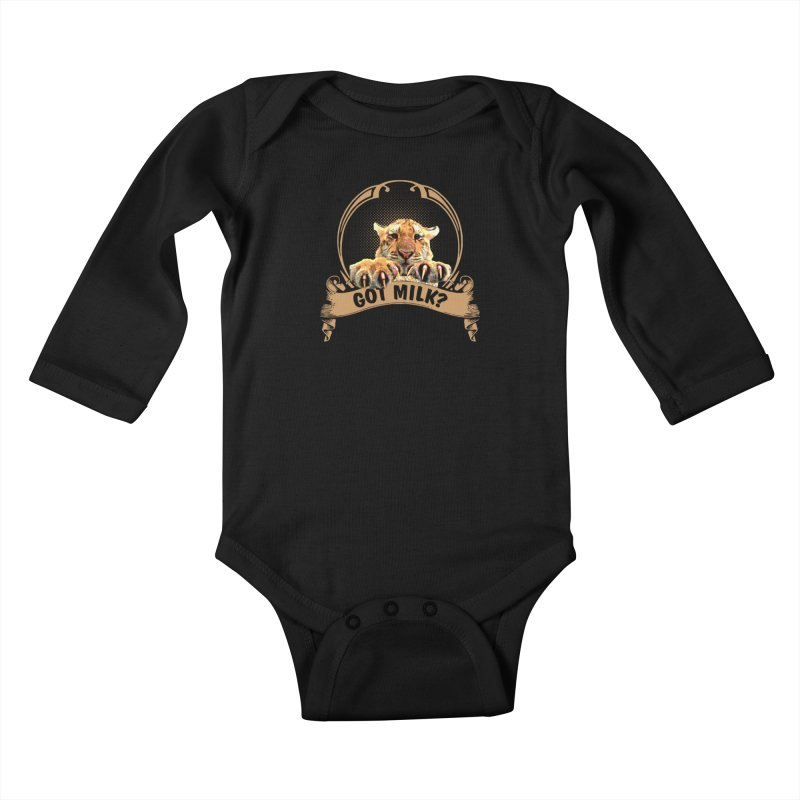Got Milk Kids Baby Longsleeve Bodysuit by Mini Moo Moo Clothing Company