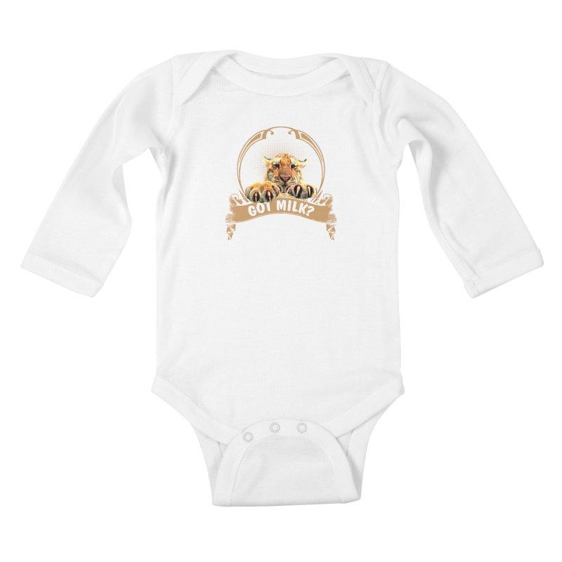 Got Milk Kids Baby Longsleeve Bodysuit by Mini Moo Moo Clothing Company
