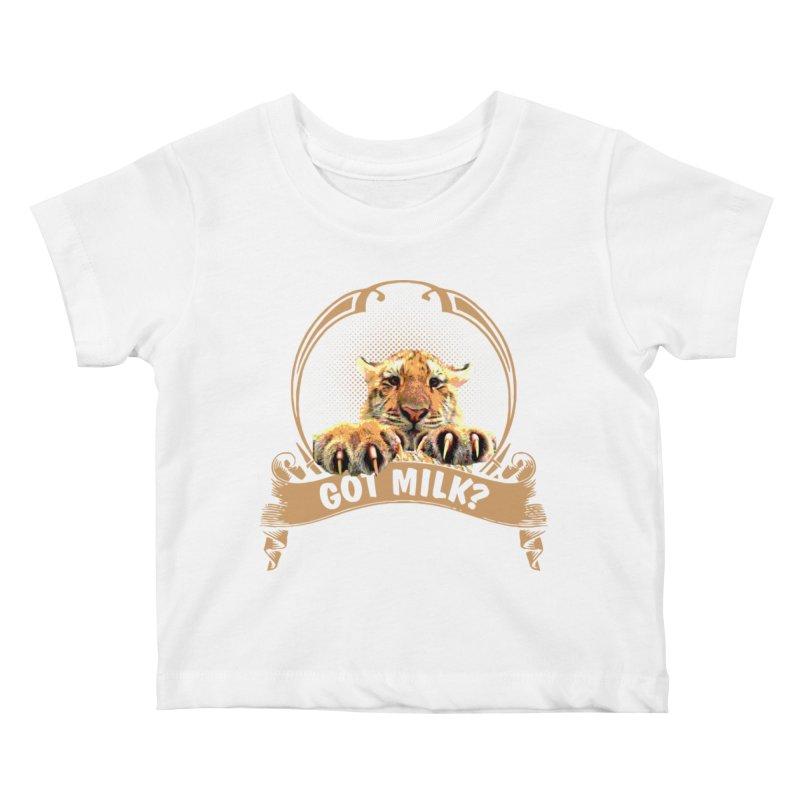 Got Milk Kids Baby T-Shirt by Mini Moo Moo Clothing Company