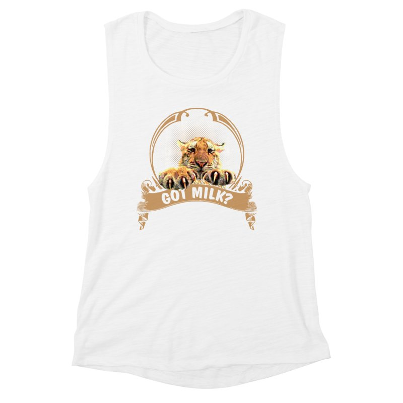 Got Milk Women's Muscle Tank by Mini Moo Moo Clothing Company