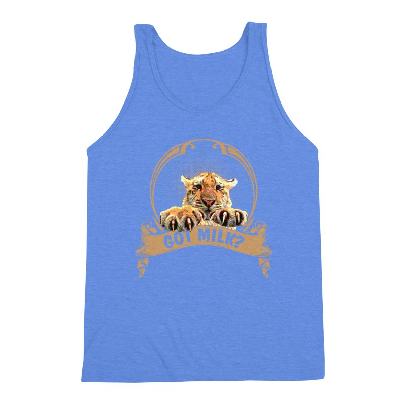 Got Milk Men's Triblend Tank by Mini Moo Moo Clothing Company