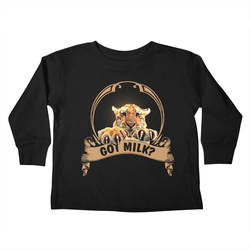 Got Milk Kids Toddler Longsleeve T-Shirt by Mini Moo Moo Clothing Company