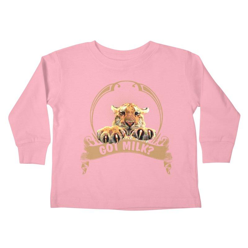 Got Milk Kids Toddler Longsleeve T-Shirt by Mini Moo Moo Clothing Company