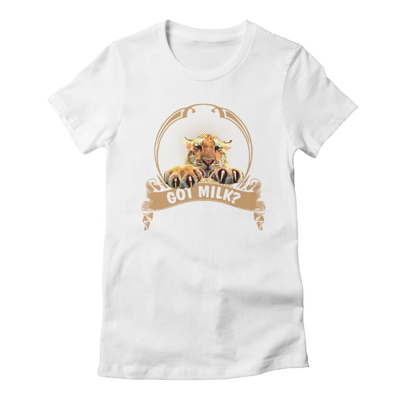 Got Milk Women's Fitted T-Shirt by Mini Moo Moo Clothing Company