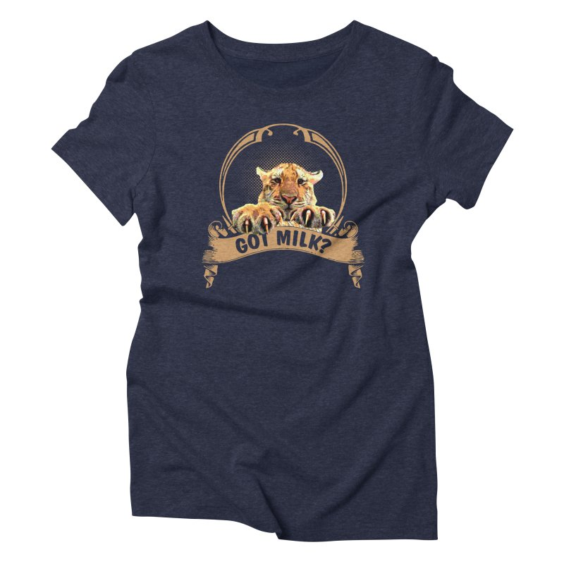 Got Milk Women's Triblend T-shirt by Mini Moo Moo Clothing Company