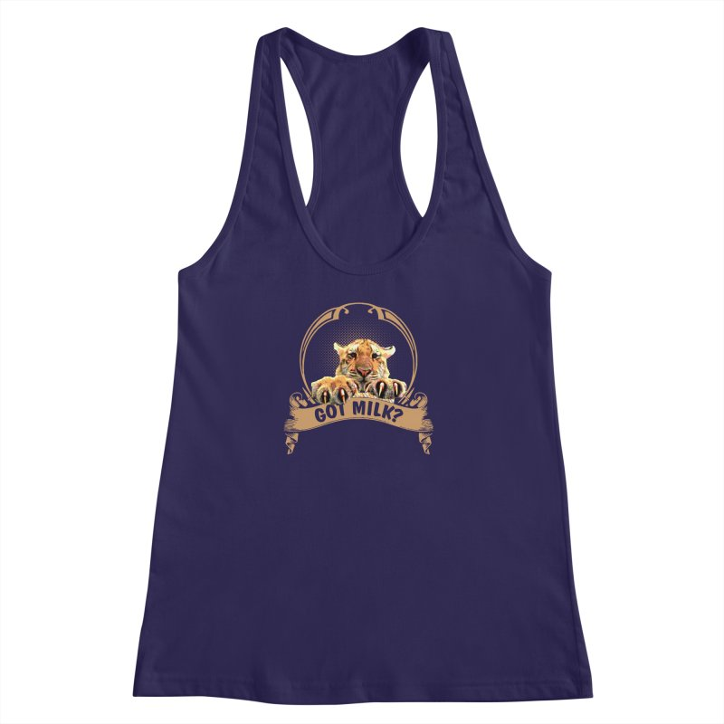 Got Milk Women's Racerback Tank by Mini Moo Moo Clothing Company