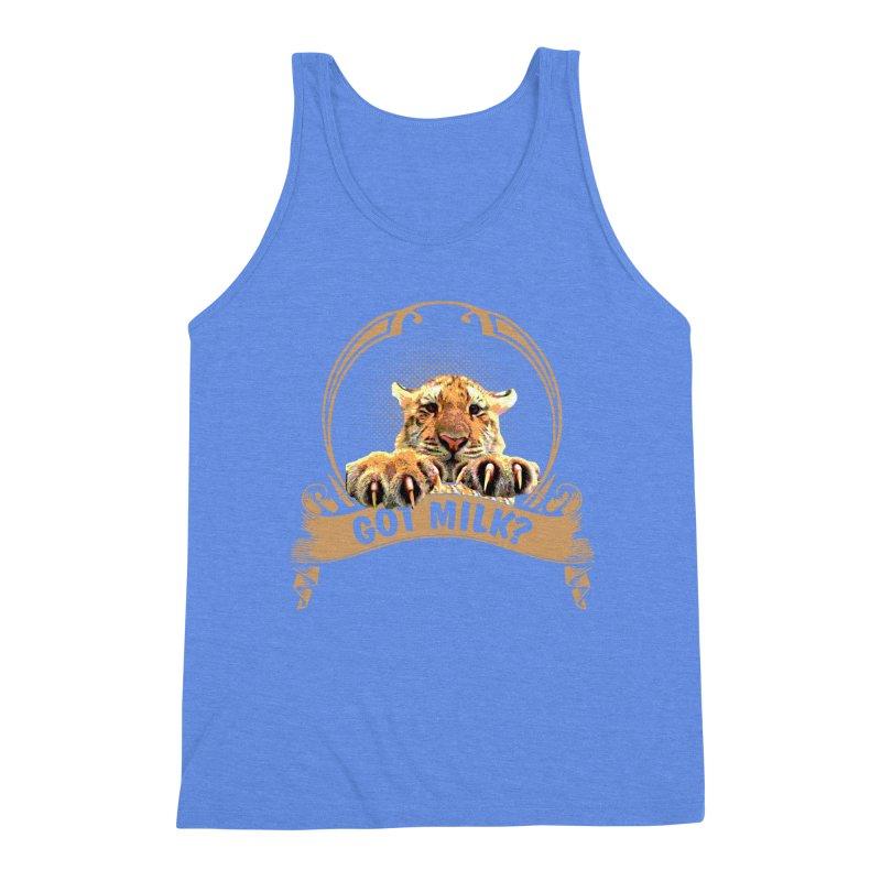 Got Milk Men's Triblend Tank by Mini Moo Moo Clothing Company