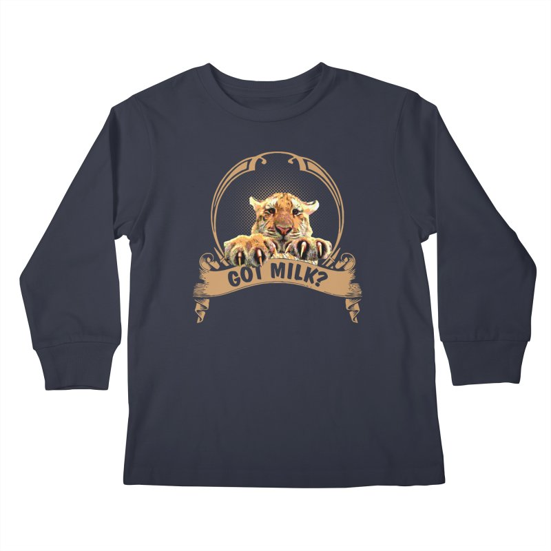 Got Milk Kids Longsleeve T-Shirt by Mini Moo Moo Clothing Company