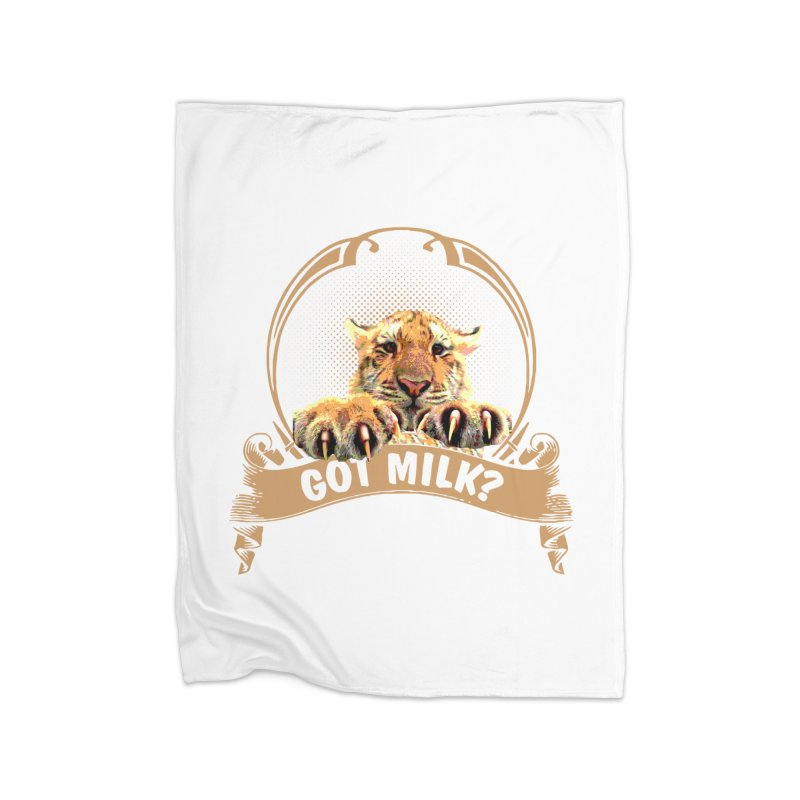 Got Milk Home Blanket by Mini Moo Moo Clothing Company