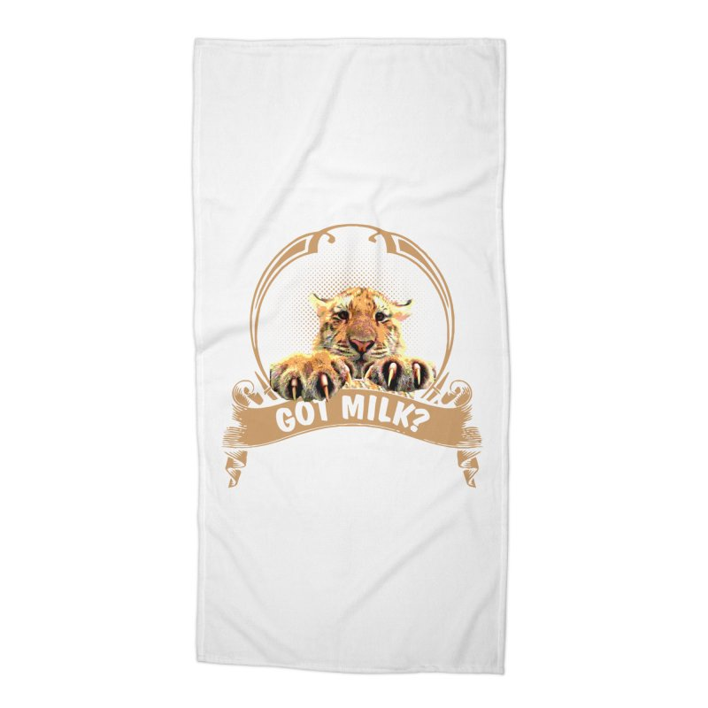 Got Milk Accessories Beach Towel by Mini Moo Moo Clothing Company
