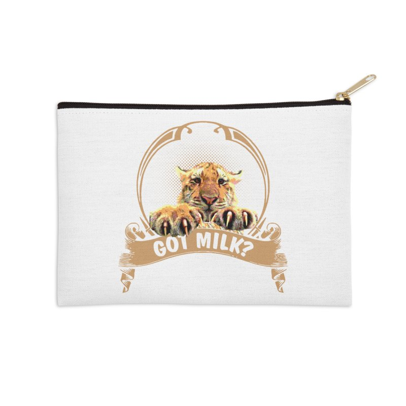 Got Milk Accessories Zip Pouch by Mini Moo Moo Clothing Company