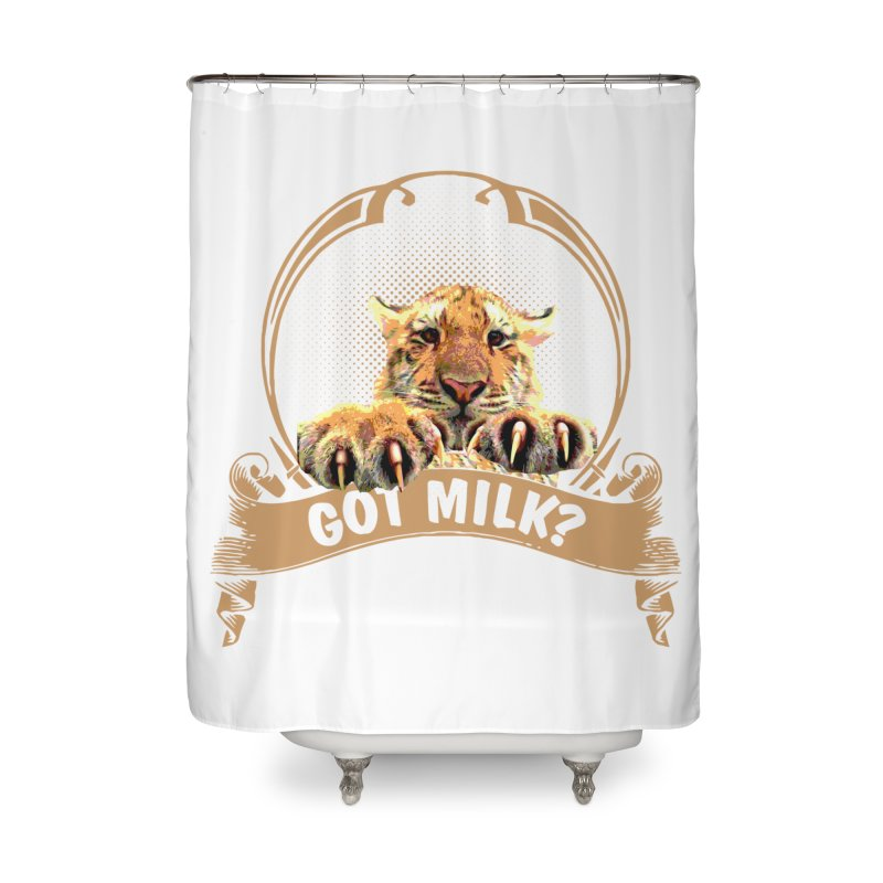 Got Milk Home Shower Curtain by Mini Moo Moo Clothing Company