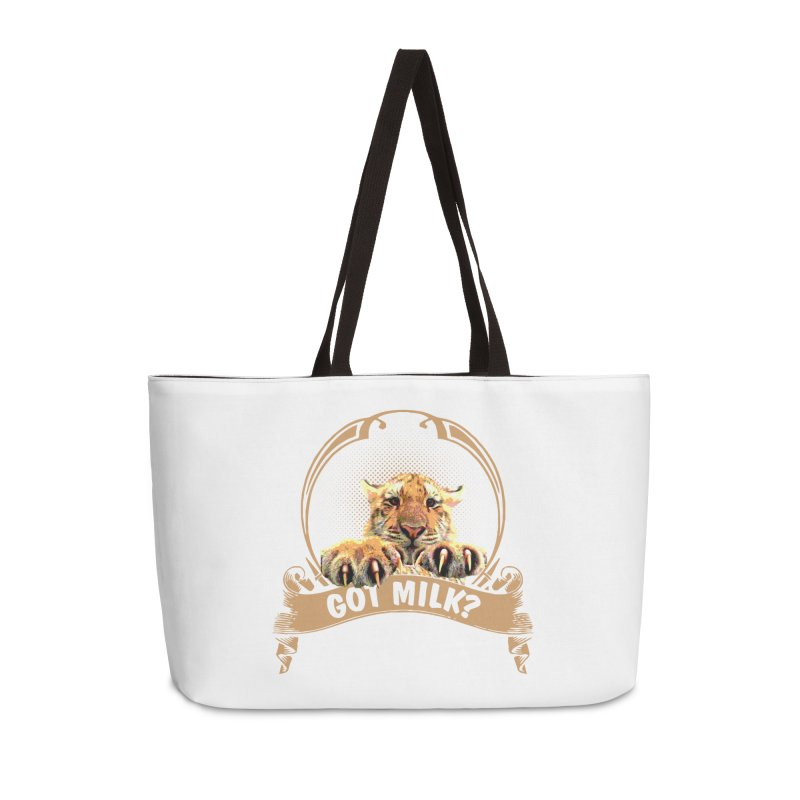 Got Milk Accessories Weekender Bag Bag by Mini Moo Moo Clothing Company