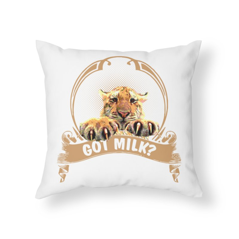 Got Milk Home Throw Pillow by Mini Moo Moo Clothing Company