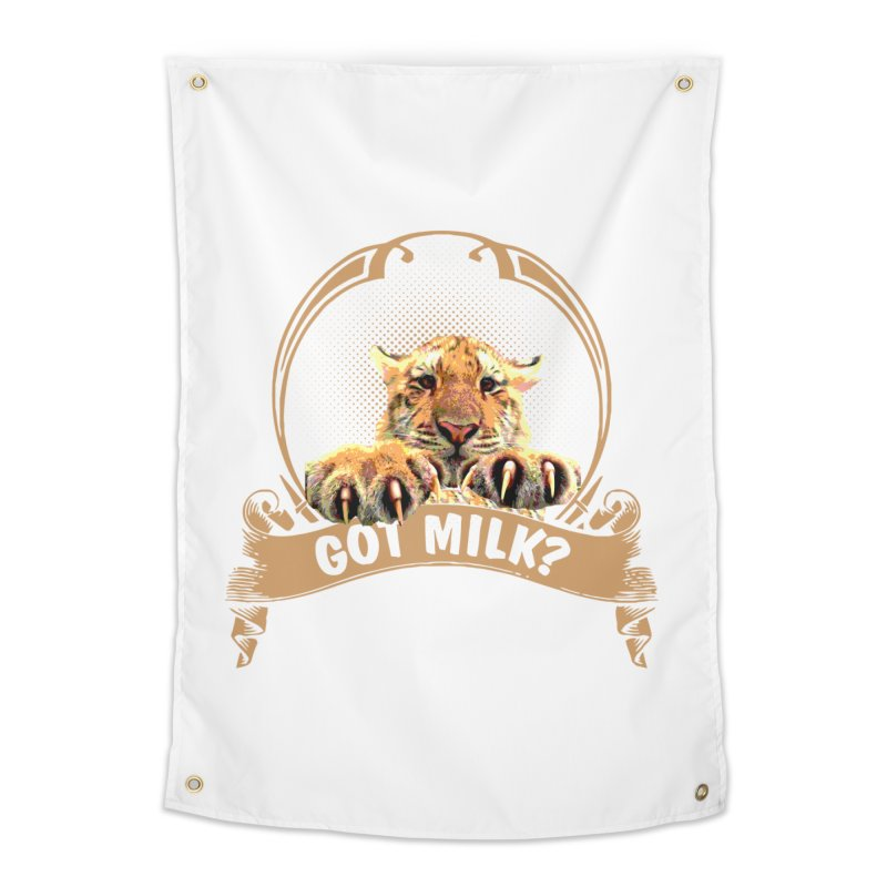 Got Milk Home Tapestry by Mini Moo Moo Clothing Company