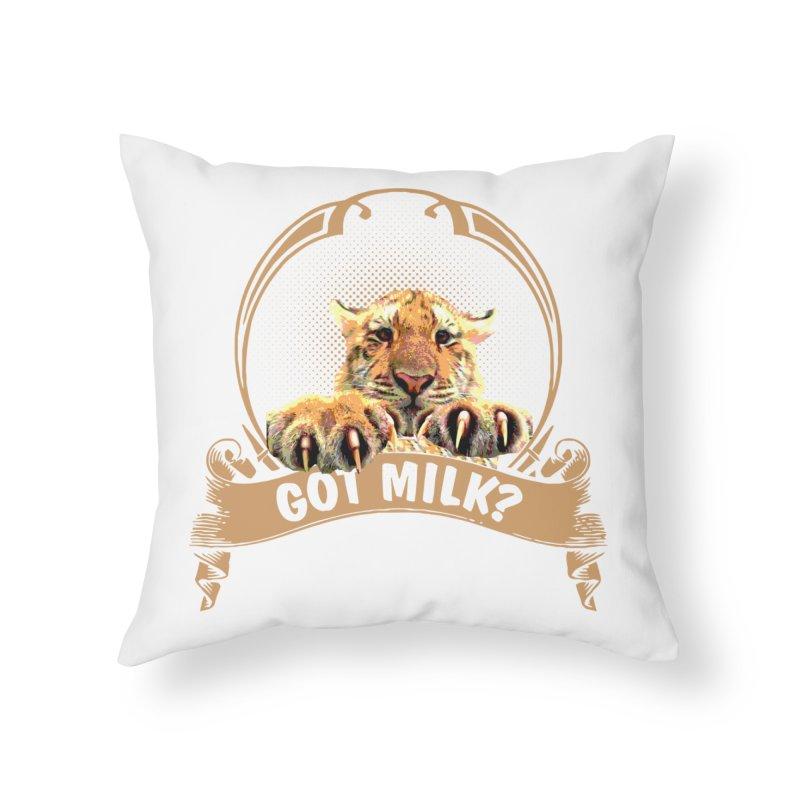 Got Milk Home Throw Pillow by Mini Moo Moo Clothing Company
