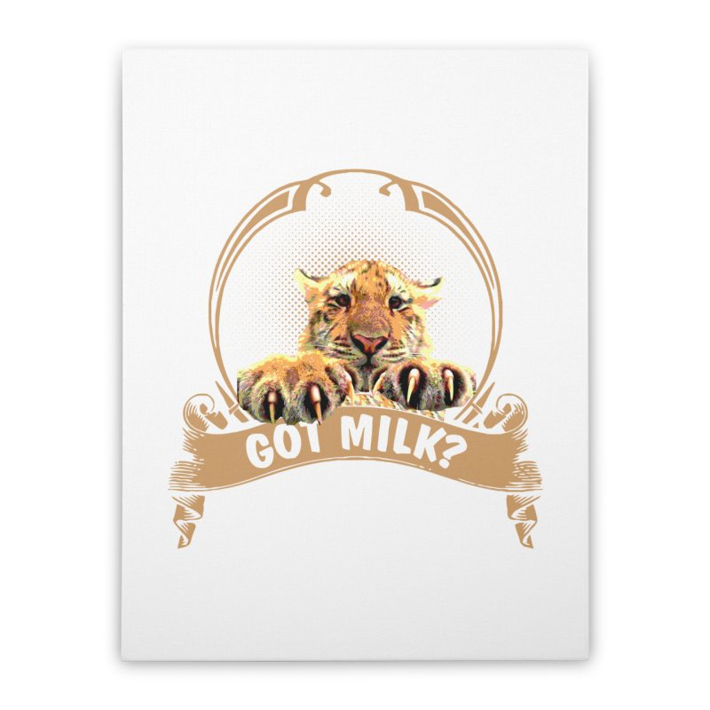 Got Milk Home Stretched Canvas by Mini Moo Moo Clothing Company