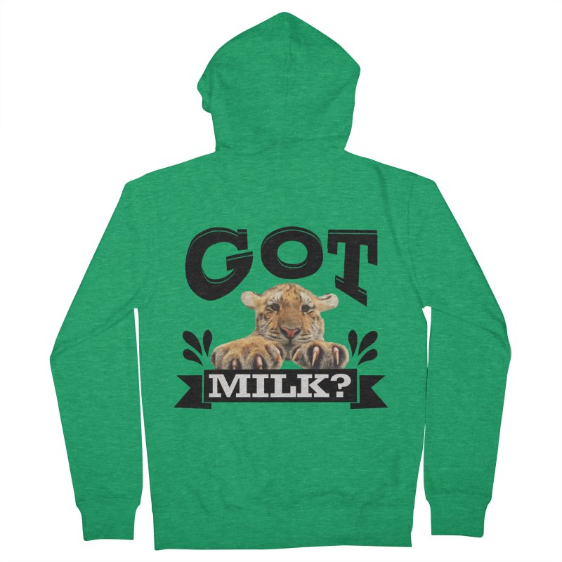 Got more Milk Men's Zip-Up Hoody by Mini Moo Moo Clothing Company
