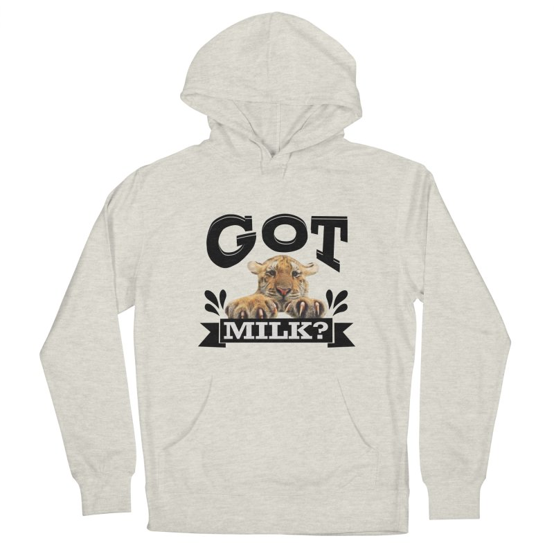 Got more Milk Men's French Terry Pullover Hoody by Mini Moo Moo Clothing Company
