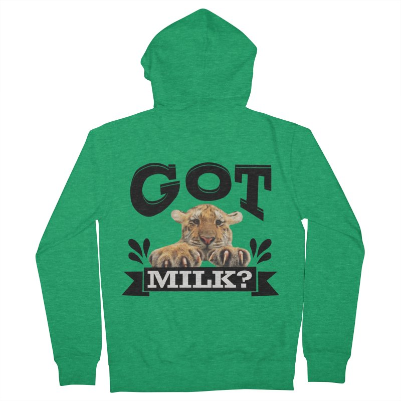 Got more Milk Men's Zip-Up Hoody by Mini Moo Moo Clothing Company