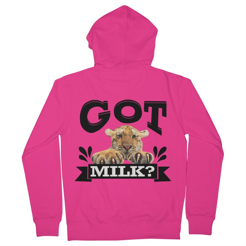 Got more Milk Men's French Terry Zip-Up Hoody by Mini Moo Moo Clothing Company