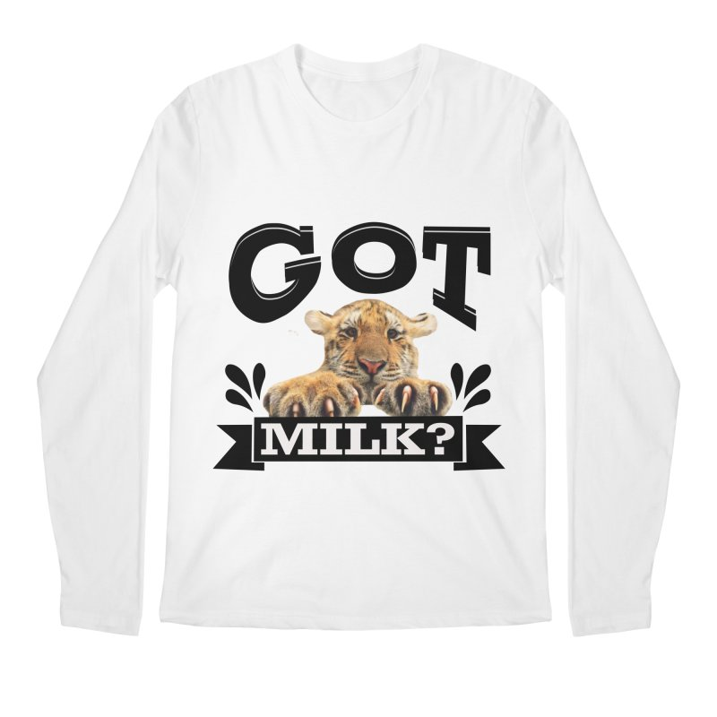 Got more Milk Men's Regular Longsleeve T-Shirt by Mini Moo Moo Clothing Company