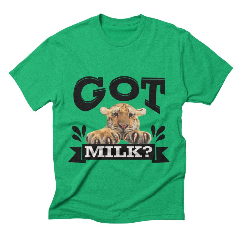 Got more Milk Men's Triblend T-Shirt by Mini Moo Moo Clothing Company